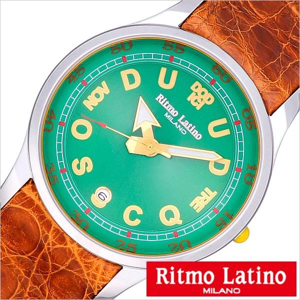 リトモラティーノ 腕時計 Ritmo Latino 腕時計 リトモラティーノ 時計 フィーノ ラージ サイズ FINO Large メンズ レディース ユニセックス グリーン F40DL[正規品 イタリア ミラノ かわいい 希少 レア 人気 雑誌掲載 RONDA スイス][送料無料][C]