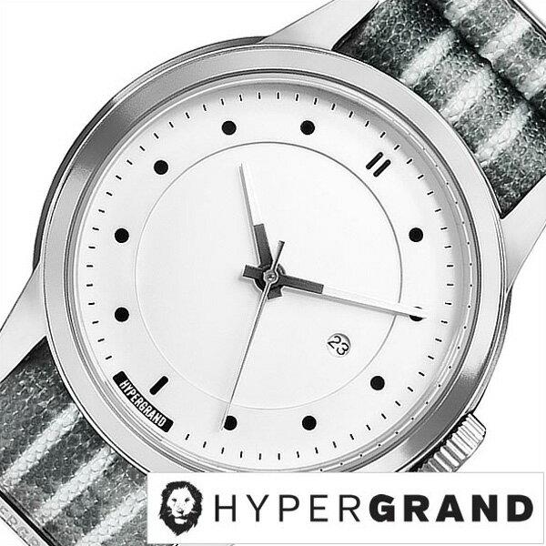ハイパーグランド腕時計 HYPER GRAND時計 HYPER GRAND 腕時計 ハイパーグランド 時計 マーベリック シリーズ ナトー MAVERICK SERIES NATO メンズ レディース ホワイト NWM4ASHP[正規品 人気 ブランド トレンド ナイロン ベルト シルバー][送料無料][B]