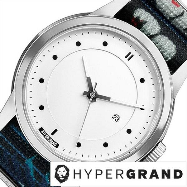 ハイパーグランド腕時計 HYPER GRAND時計 HYPER GRAND 腕時計 ハイパーグランド 時計 マーベリック シリーズ ナトー MAVERICK SERIES NATO メンズ レディース ホワイト NWM4AVAL[正規品 人気 ブランド トレンド ナイロン ベルト シルバー][送料無料][B]