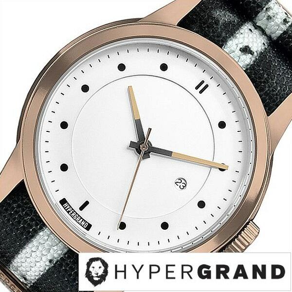 ハイパーグランド腕時計 HYPER GRAND時計 HYPER GRAND 腕時計 ハイパーグランド 時計 マーベリック シリーズ ナトー MAVERICK SERIES NATO メンズ レディース ホワイト NWM4RUNW[正規品 人気 トレンド ナイロン ベルト ピンクゴールド][送料無料][プレゼント][B][あす楽]