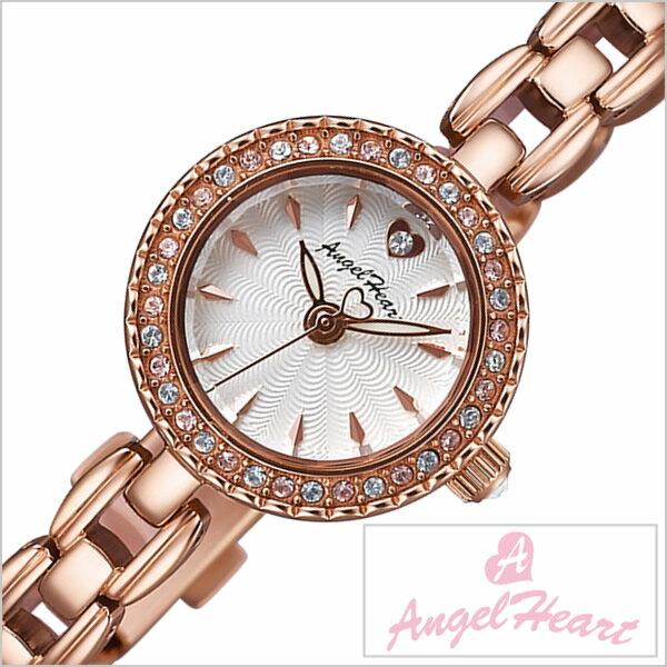 エンジェルハート腕時計 AngelHeart時計 AngelHeart 腕時計 エンジェルハート 時計 エターナルクリスタル Eternal Crystal レディース ホワイト[メタル ベルト ハート ウォッチ かわいい ピンクゴールド クリスタル ストーン][送料無料][プレゼント ギフト][あす楽]