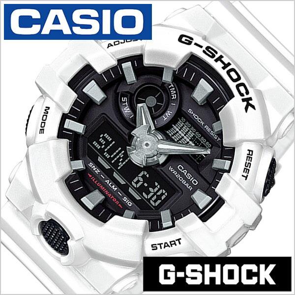 カシオ Gショック 腕時計 CASIO G-SHOCK 腕時計 ジーショック メンズ ブラック GA-700-7AJF [正規品 人気 防水 アナデジ アウトドア スポーツ 丈夫 アウトドア ホワイト][送料無料][入学 就職 祝い プレゼント ギフト]