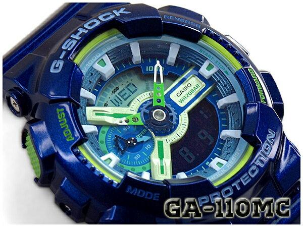 【ポイント2倍!!+送料無料!】G-SHOCK Gショック ジーショック 限定 Crazy Colors クレイジーカラーズ カシオ CASIO アナデジ 腕時計 ブルー ネイビー GA-110MC-2ADR GA-110MC-2A