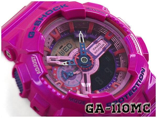【ポイント2倍!!+送料無料!】G-SHOCK Gショック ジーショック 限定 Crazy Colors クレイジーカラーズ カシオ CASIO アナデジ 腕時計 ピンク GA-110MC-4ADR GA-110MC-4A
