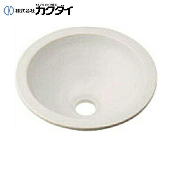 カクダイ[KAKUDAI]丸型手洗器493-013-W(月白)