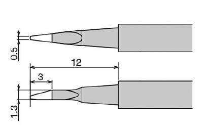 【セール】 TRUSCO トラスコ中山 工業用品 グット 替こて先 XST-80G用