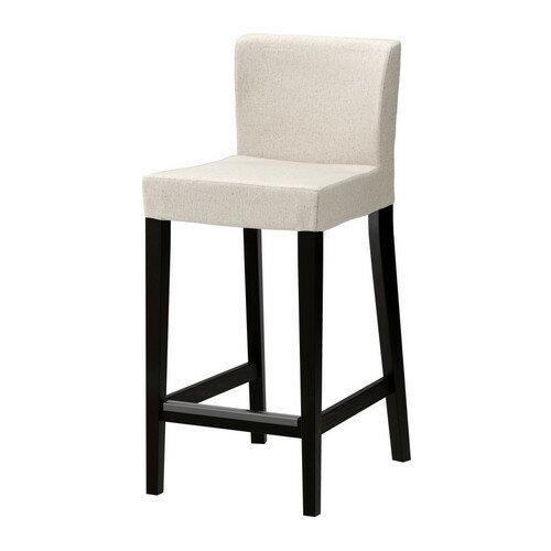 【IKEA/イケア/通販】 HENRIKSDAL バースツール 背もたれ付き, ブラウンブラック, リッネリード ナチュラル(b)(S69874589)
