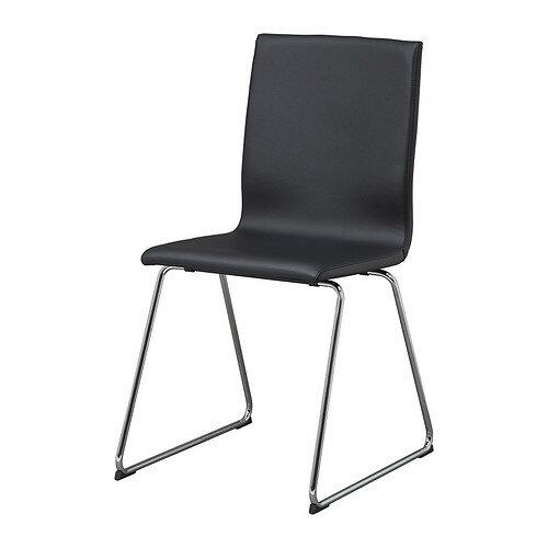 【期間限定】【IKEA/イケア/通販】 VOLFGANG チェア, クロムメッキ, イドゥフルト ブラック(c)(30327902)
