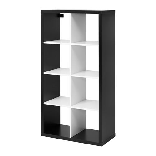 【期間限定】【IKEA/イケア/通販】 KALLAX シェルフユニット, ブラック, ホワイト(d)(90346926)