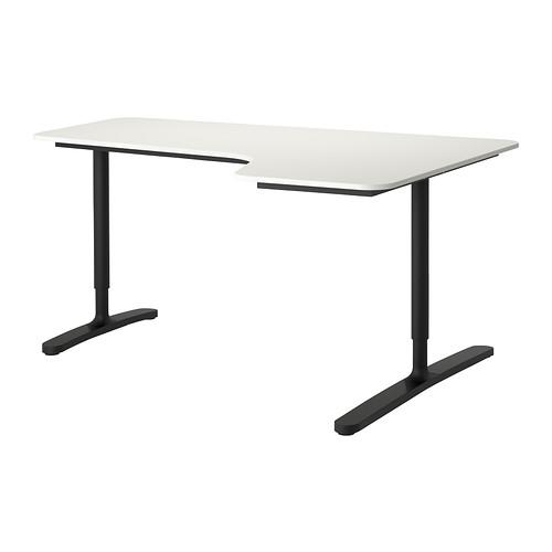 【IKEA/イケア/通販】 BEKANT コーナーデスク 右, ホワイト, ブラック(a)(S39222533)