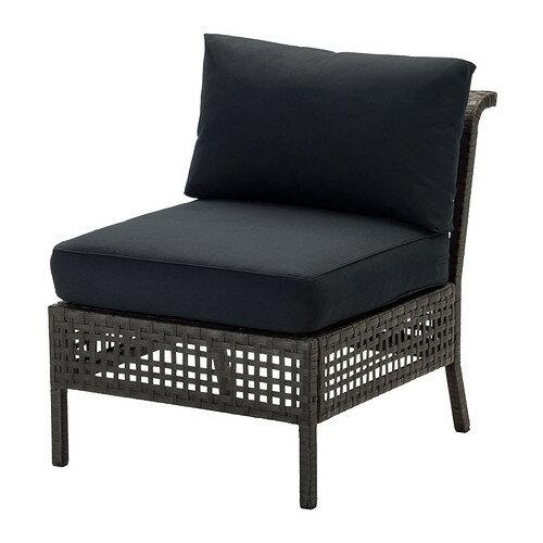 【IKEA/イケア/通販】 KUNGSHOLMEN / KUNGSÖ イージーチェア 屋外用, ブラックブラウン, ブラック(S59220260)