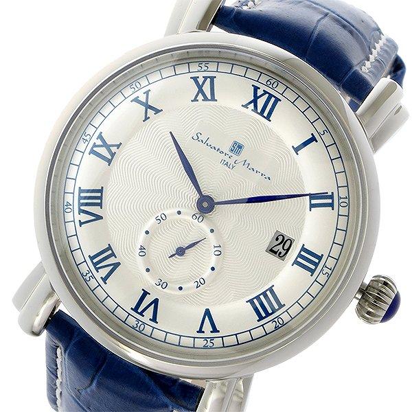 送料無料 サルバトーレマーラ クオーツ メンズ 腕時計 SM13121-SSWHBL ホワイト ブルー 人気 ブランド ウォッチ サルバトーレマーラ腕時計 サルバトーレマーラ時計 激安 セール sale 男性 ギフト プレゼント
