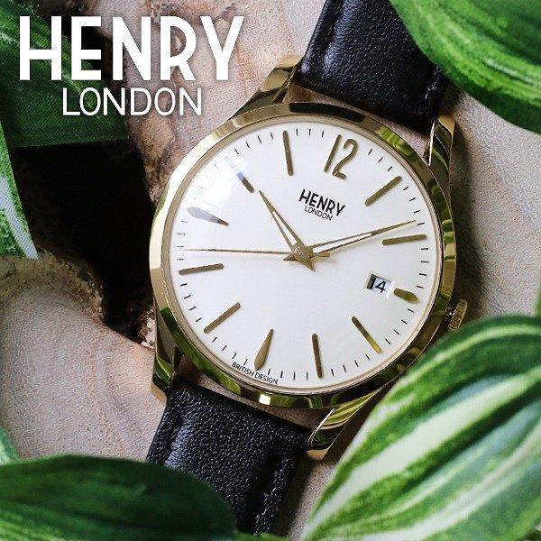送料無料 ヘンリーロンドン HENRY LONDON ウェストミンスター 39mm メンズ レディース 腕時計 HL39-S-0010 アイボリー ブラック 人気 ブランド ヘンリーロンドン時計 ヘンリーロンドン腕時計 激安 セール sale 男性 女性 ギフト プレゼント