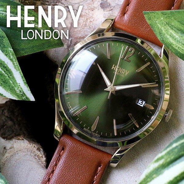送料無料 ヘンリーロンドン HENRY LONDON チズウィック 39mm メンズ レディース 腕時計 HL39-S-0186 モスグリーン/タン 人気 ブランド ヘンリーロンドン時計 ヘンリーロンドン腕時計 激安 セール sale 男性 女性 ギフト プレゼント