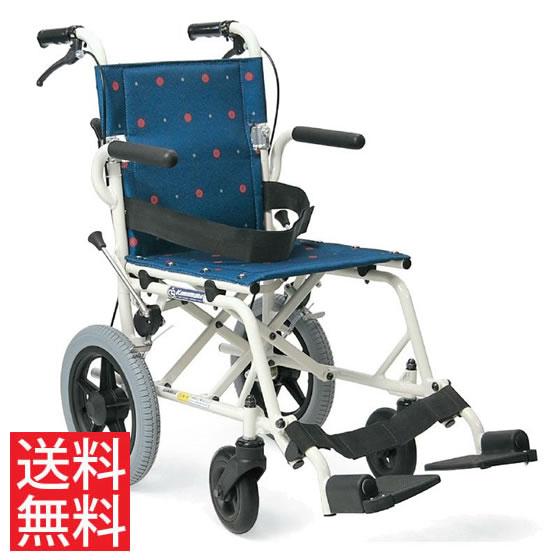 送料無料 車椅子 簡易 軽量 持ち運び 携帯 旅行 お出かけ 通院 短時間 ノーパンク コンパクト 軽い カワムラサイクル 旅ぐるま KA6 介助用 車 トランク 水玉 紫 収納 折りたたみプレゼント 父の日