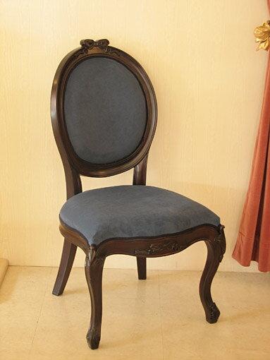 輸入家具■オーダー家具■プリンセス家具■オーバルチェア■猫脚■オードリーリボンの彫刻■SH45■ブラウン色
