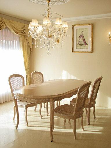 輸入家具■オーダー家具■プリンセス家具■ラ・シェル■ダイニングテーブル200■ビバリーヒルズの彫刻