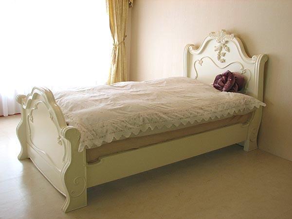 輸入家具■オーダー家具■プリンセス家具■ラ・シェル■シングルベッド■ホワイト