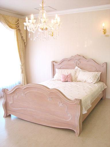 輸入家具■プリンセス家具■ルイ15世スタイル■ラ・シェル■ベッド■セミダブルサイズ