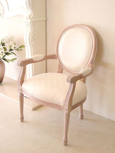 オーダー家具■プリンセス家具■ルイ16世スタイル■アームチェア■ピンクベージュ