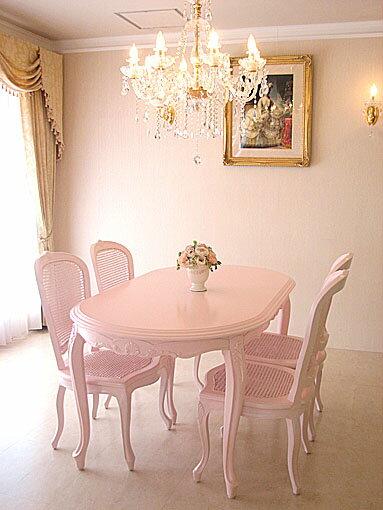輸入家具■オーダー家具■プリンセス家具■ラ・シェル■ダイニングテーブル160■バービーピンク