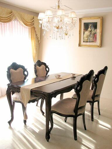 輸入家具■オーダー家具■プリンセス家具■ビバリーヒルズ■ダイニングテーブル180■ブラウン