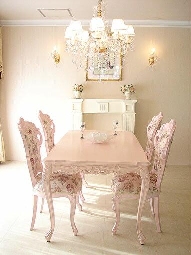 輸入家具■オーダー家具■プリンセス家具■ビバリーヒルズ■ダイニングテーブル■160■バービーピンク