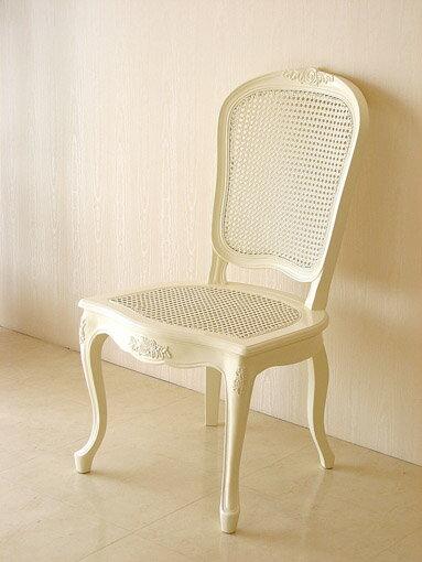 輸入家具■オーダー家具■プリンセス家具■ラタンチェア■薔薇の彫刻■ホワイト色