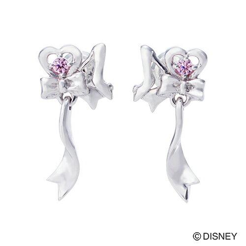 【Disney Series】ディズニー/シンデレラ/ガラスの靴 リボン ピアス シルバー DI501RD