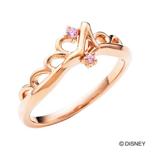【Disney Series】ディズニー/シンデレラ/ガラスの靴 ティアラ ハート リング 指輪 ピンク DI506PG