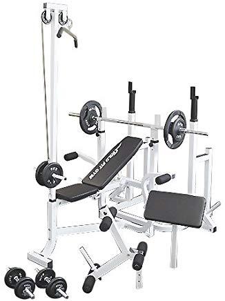 マルチトレーニングジムセット アイアン70kg[WILD FIT ワイルドフィット] 送料無料 バーベル ベンチプレス トレーニング ウエイト プレート スクワット 大胸筋 腹筋