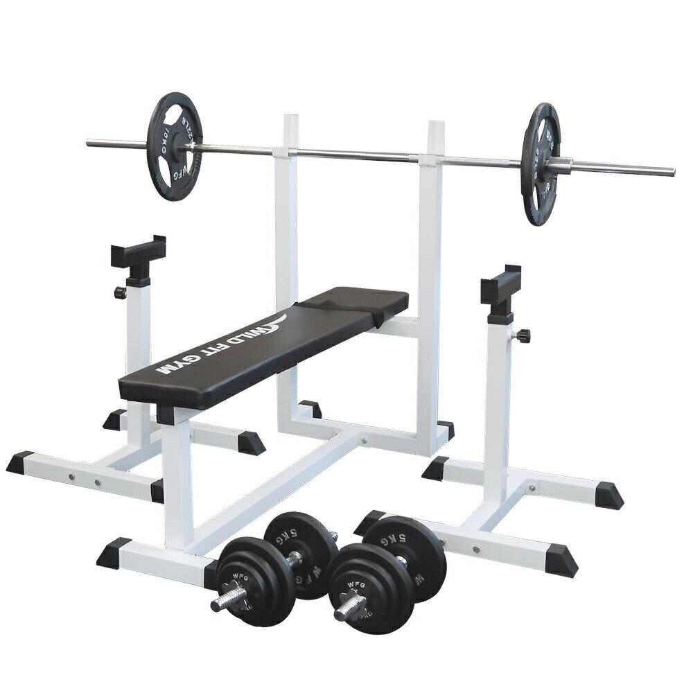 トレーニングジムセット アイアン70kg[WILD FIT ワイルドフィット] 送料無料 バーベル ダンベル ベンチプレス トレーニング ウエイト プレート 大胸筋 腹筋 上腕筋