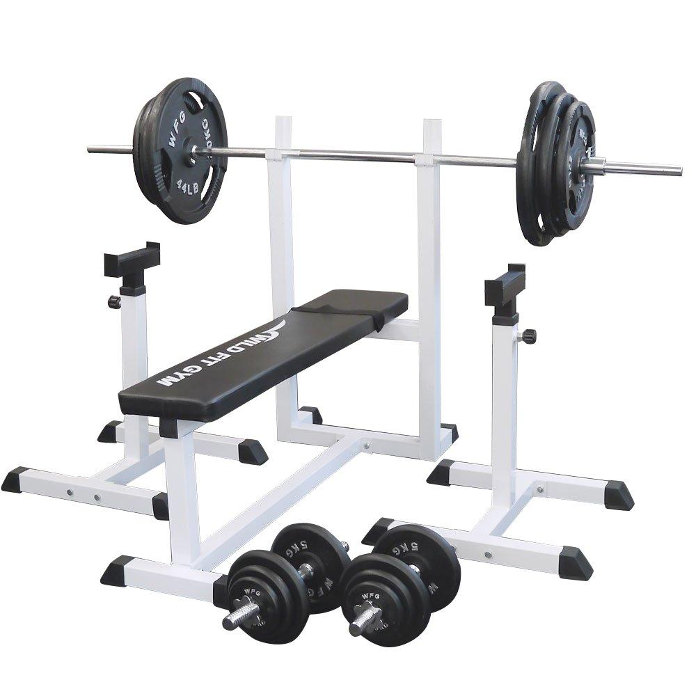トレーニングジムセット アイアン140kg[WILD FIT ワイルドフィット] 送料無料 バーベル ダンベル ベンチプレス トレーニング器具 フィットネス 大胸筋 腹筋 上腕筋