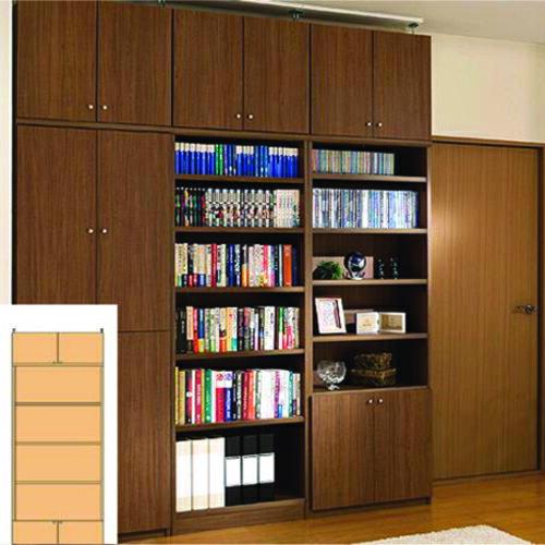 書類本棚 大容量本棚 DVD収納 O3 【オーダー書庫】タオル レコードなどの収納に リフォーム材料 大容量本棚 大容量本棚 奥行31cm高さ250~259cm幅81~90cm タフ棚板(厚さ2.5cm) 書類収納