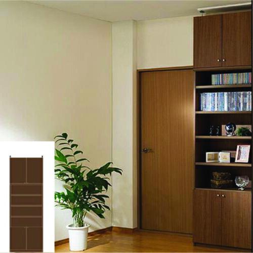 薄型 本棚 耐震加工本棚 薄型壁面漫画本棚 UX 地震対策本棚 薄型書棚 組立家具 高さ250~259cm幅60~70cm奥行19cm厚棚板(耐荷重30Kg) タフ棚板(厚さ2.5cm) 薄型本棚