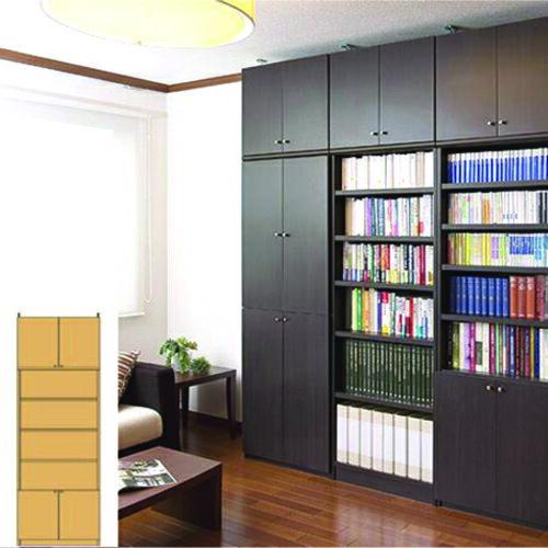 薄型 本棚 壁面活用収納 大容量壁面書庫 UX 突っ張り本棚 薄型本棚 簡単リフォーム 高さ274.1~283.1cm幅71~80cm奥行31cm厚棚板(耐荷重30Kg) タフ棚板(厚さ2.5cm) 薄型本棚