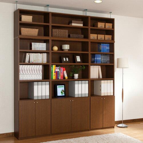 壁収納 3台セット 決定 1cm単位で幅をオーダー! 奥行31×高さ208~217×幅150~188cm扉の高さ41.5cmリビング 書斎 寝室に天井までの壁収納