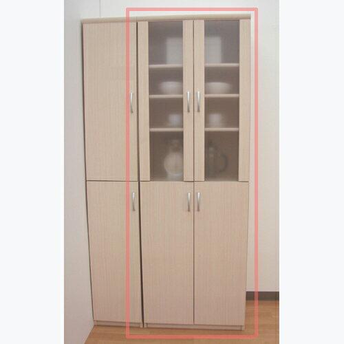 半透明扉キッチンストッカー 高さ178cm幅60~70cm奥行46cm 上下共両開き 廊下用途色々シェルフ