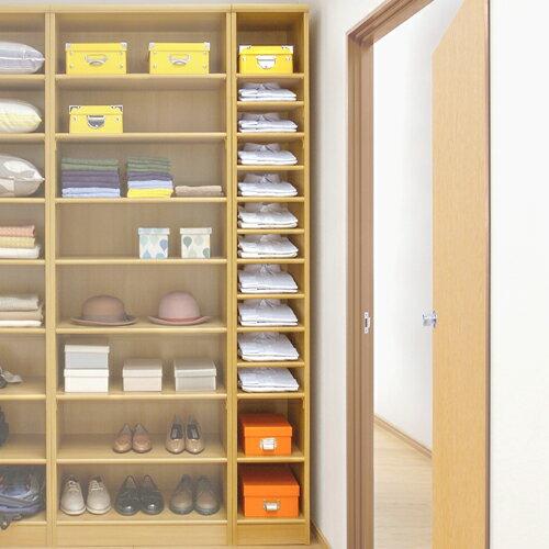 クローゼットすきま収納 安全・安心の国産品 役立奥行46cm高さ135cm幅15~24cm標準棚板(厚さ1.7cm)
