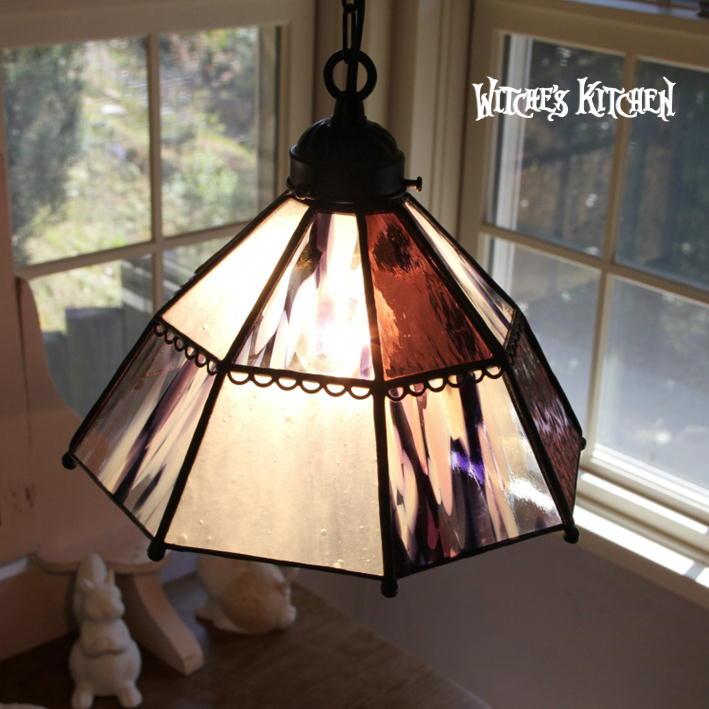 ペンダントライト 【Amaretto・アマレット】 LED対応 アマレット ステンドグラス ランプ