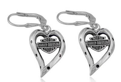 ハーレーダビッドソン Harley Davidsonイヤリングバー&シールド ダングル ハート イアリングBar & Shield Dangle Heart Earringsハーレー純正 正規品 アメリカ買付 USA直輸入  通販