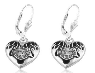 ハーレーダビッドソン Harley Davidsonイヤリングフレーム ハート イアリングFlame Heart Earringsハーレー純正 正規品 アメリカ買付 USA直輸入  通販