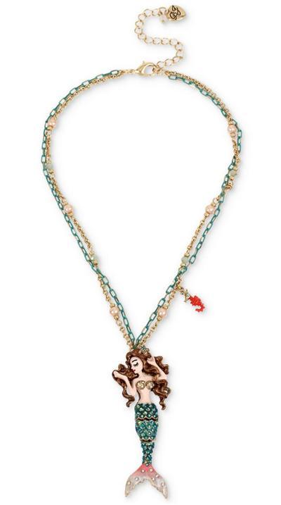 ベッツィージョンソン Betsey Johnson ネックレスGold-Tone Crystal Mermaid Pendant Necklace  ネックレス(マーメイド)ブランド レディースネックレス ギフト
