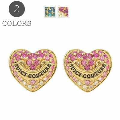 ジューシークチュール Juicy Couture ハートピアスGRADIENT PAVE HEART STUD EARRINGS パヴェ ハート  ピアス(全2色) ギフト プレゼント レディースアクセサリー 新作 日本未入荷 アメリカ買付 USA直輸入 海外通販