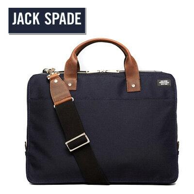 ジャックスペード Jack Spade ブリーフケースDobby Nylon Slim Briefcase (Navy)ダビー ナイロン スリム ブリーフケース(ネイビー) 新作 正規品 アメリカ買付 USA直輸入メンズ バッグショルダー メッセンジャー 2WAY