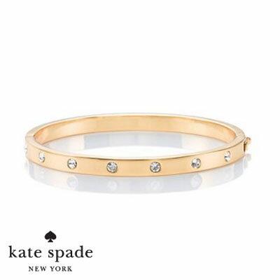 ケイトスペード Kate Spade ブレスレット/バングルset in stone stone hinged bangle (Gold)  ストーン ヒンジ バングル(ゴールド) ブランド レディースアセサリー 新作 正規品 アメリカ買付