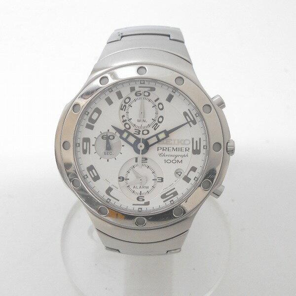 時計 セイコー プルミエ 7T62-0CY0 メンズ クロノグラフ クオーツ ★送料無料★【中古】【あす楽】
