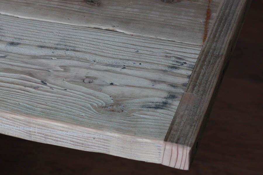 OLD ASHIBA(足場板古材)フリー板(幅つなぎ材)厚35mm×幅900mm(5枚あわせ)×長さ1110~1200mm 無塗装※縁あり(標準タイプ)[受注生産] 天板 キッチン カウンター ダイニング テーブル 棚板 デスク DIY オーダー 天板のみ アンティーク