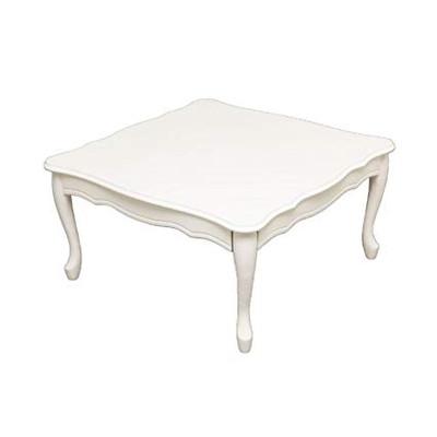 センターテーブル ローテーブル かわいい 姫系 折れ脚 折りたたみ 猫脚 テーブル 75×75cm テーブル ローテーブル 姫系 家具