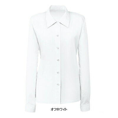 事務服・制服・オフィスウェア  ヌーヴォ FB7503 ブラウス(長袖) 11号・オフホワイト1